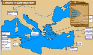 MAPA DE LITERATURA GRIEGA