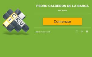 CRUCIGRAMA DE PEDRO CALDERÓN DE LA BARCA